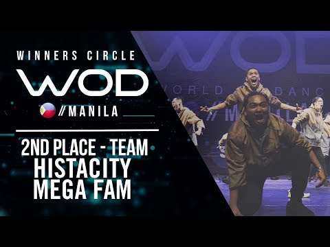 Histacity Mega Fam | 2nd Place Team | Winners Circle | World of Dance Manila Qualifier 2018