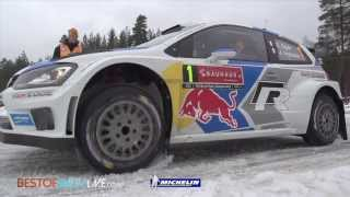 Leg 2 (Ogier crash) - 2014 WRC Rally Sweden - Best-of-RallyLive.com
