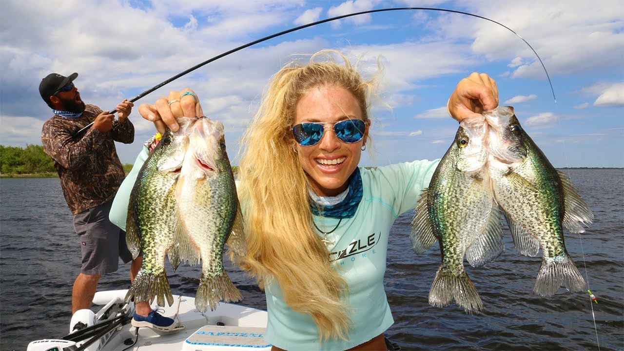 Crappie fishing with live minnows on lake okeechobee for Crappie fishing with minnows