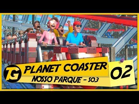 Planet Coaster #002 - Gameplay em Português (PT-BR) - ÓCULOS ESCUROS?