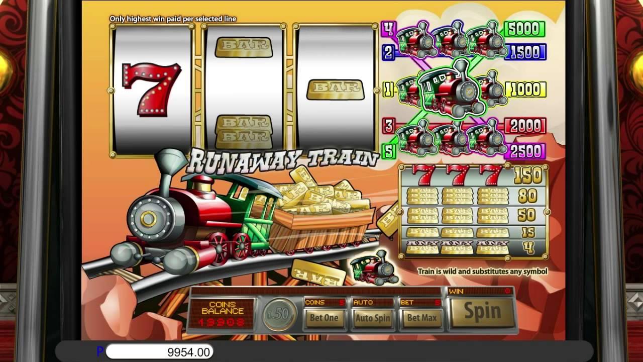 Free runaway train slot machine by saucify gameplay slotsup