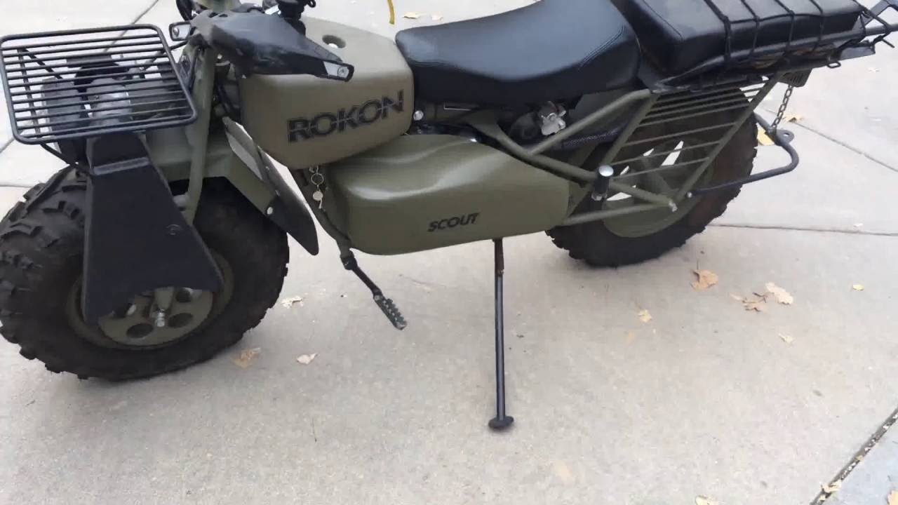 Rokon Scout all (2WD) wheel drive motorcycle - YouTube