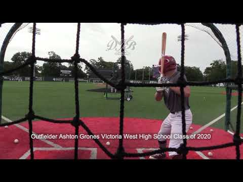 Outfielder Ashton Grones VIctoria West High School Class of 2020
