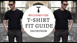 How Should A T-Shirt Fit - Men's Clothing Fit Guide - Crew Neck, V-Neck, Designer, Cheap