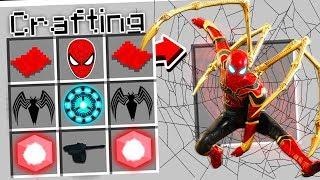 CRAFTING IRON SPIDER IN MINECRAFT!
