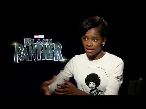BLACK PANTHER Letitia Wright Interview