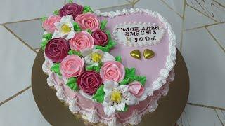 Торт на льняную свадьбу