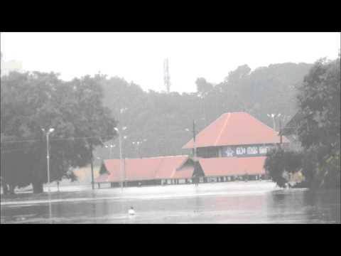 Aluva Siva Temple Under Monsoon Flood 2013