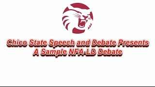 Sample NFA LD Debate on the 2013 - 2014 Education Topic