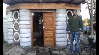 Casa hecha con neumático