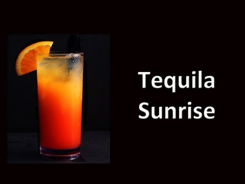 Tequila sunrise cocktail  Tequila Sunrise Cocktail Drink Recipe - YouTube