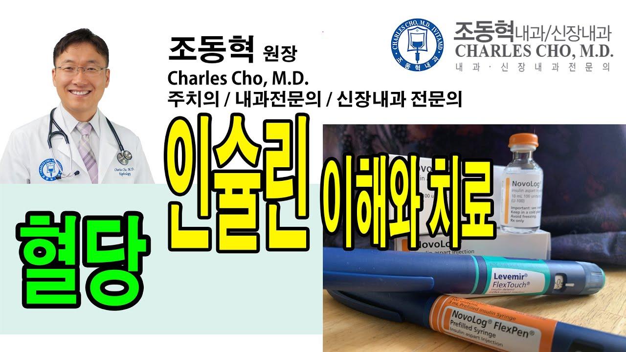 당뇨혈당변화, 인슐린 주사의 이해와 올바른 이용