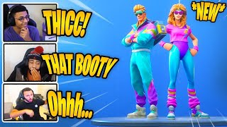 STREAMERS REACT TO *NEW* AEROBIC ASSASSIN (THICC) & MULLET MARAUDER SKINS! Fortnite BEST Moments.
