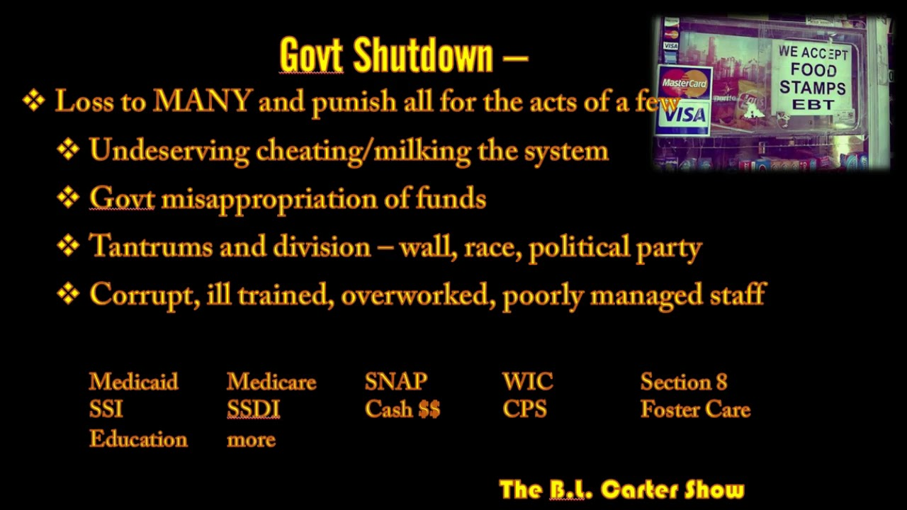 The Shutdown - Real Talk -Programs and People Affected
