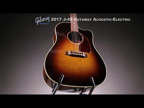 Gibson� J-45 Cutaway Dreadnought Acoustic-Electric Guitar