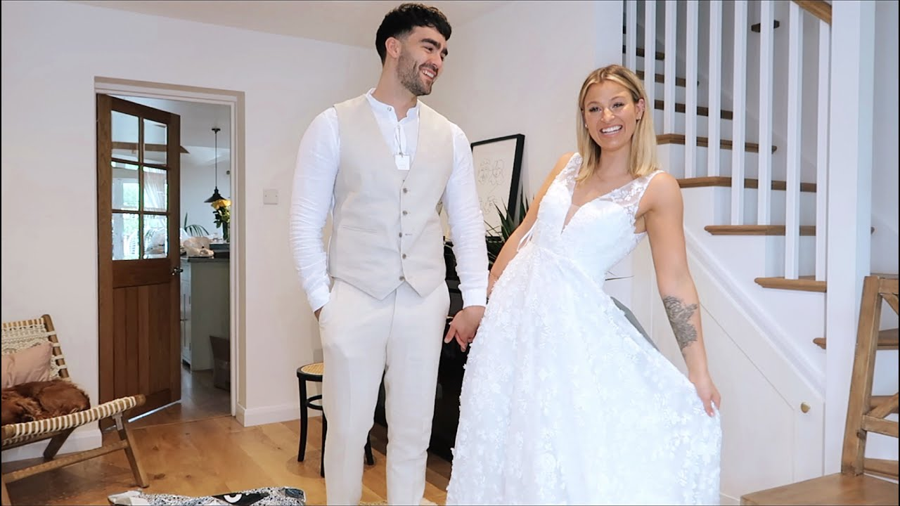 fiancé buys my wedding dress & i bought his wedding suit too.. asos haul