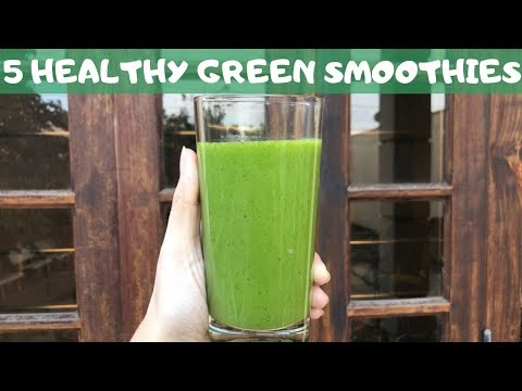 5-healthy-green-smoothies-for-weight-loss---easy-recipes