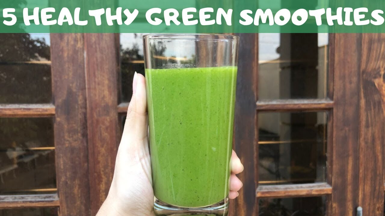 5 Healthy Green Smoothies For Weight Loss - Easy Recipes