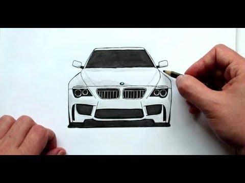 Как нарисовать Машину Бумер BMW Любительская работа(Ehedov Elnur)Wie Man Ein Auto BMW Zieht