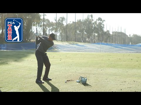 Tiger Woods' Range Session Before Farmers Insurance Open 2020