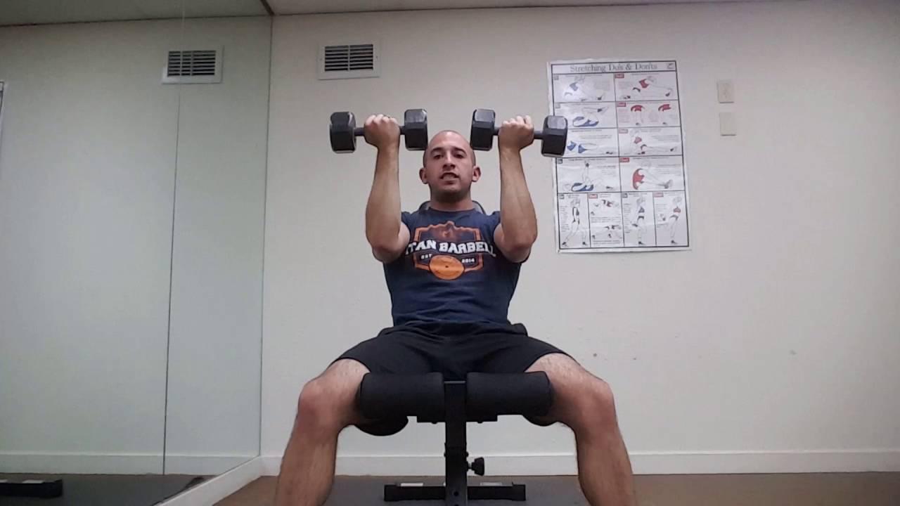 Arnold Press Shoulder Exercise Video Tutorial - YouTube