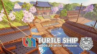 The Turtle Ship modeled with UModeler in Unity.