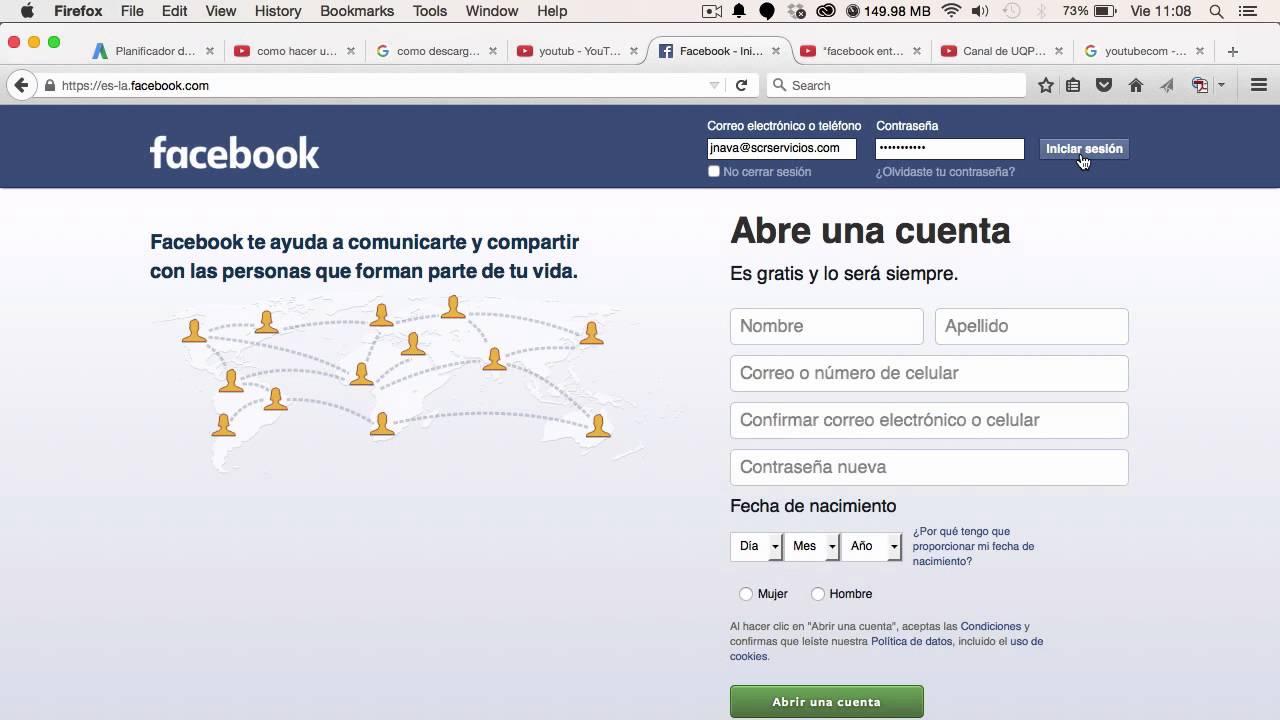 facebook entrar a mi cuenta gratis