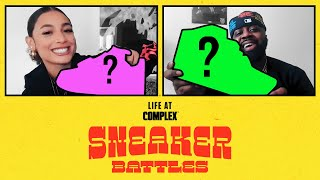 DaniLeigh vs Smoke DZA in a Spicy Sneaker Battle | #LIFEATCOMPLEX