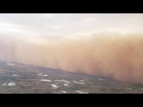 Josh Healy - Giant Dust Storm Filmed From a Plane