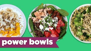 3 Healthy Power Bowls! Collab with The Domestic Geek! - Mind Over Munch
