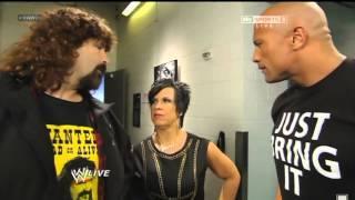WWE Raw 20th Anniversary  - The Rock & Mick Foley Backstage segment (Full)