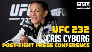 UFC 232: Cris Cyborg Post-Fight Press Conference - MMA Fighting