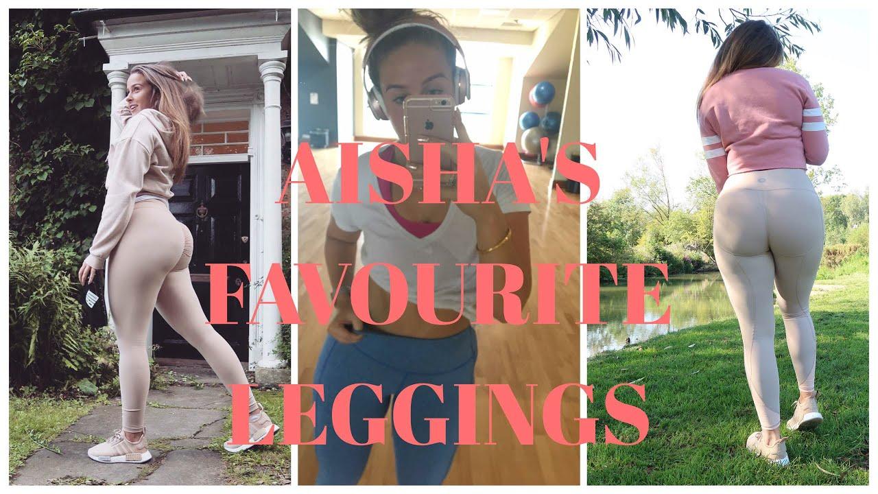d4b9592155fea LEGGINGS HAUL | AISHA'S FAVOURITE GYM LEGGINGS - YouTube