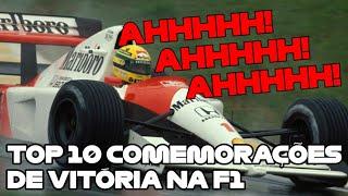 TOP 10 RÁDIOS - COMEMORAÇÃO DE VITÓRIA na F1 (legendado)