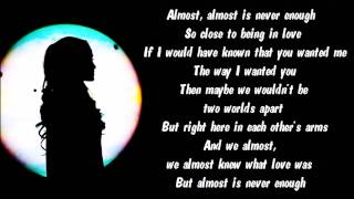 Ariana Grande - Almost Is Never Enough Karaoke / Instrumental with lyrics on screen