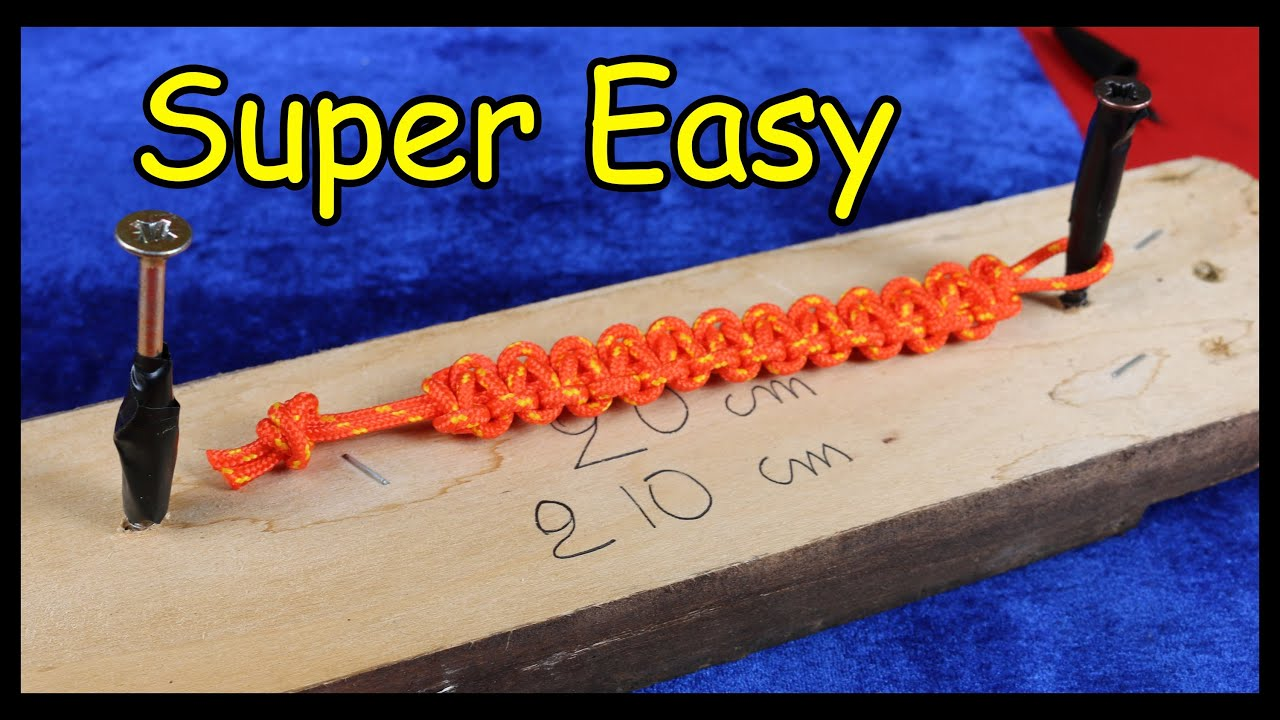 easy paracord bracelet instructions