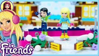 Lego Friends Snow Resort Ice Skating Rink Build - Kids Toys
