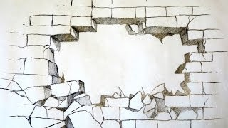How To Draw A Broken Brick Wall (The Original)