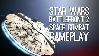 Star Wars Battlefront 2 Gameplay: Let's Play Battlefront 2 Space Combat - HERO OF THE REBELLION