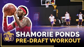 St. John's Shamorie Ponds' Lakers 2018 Pre-Draft Workout (Lakers Mentality Drill)