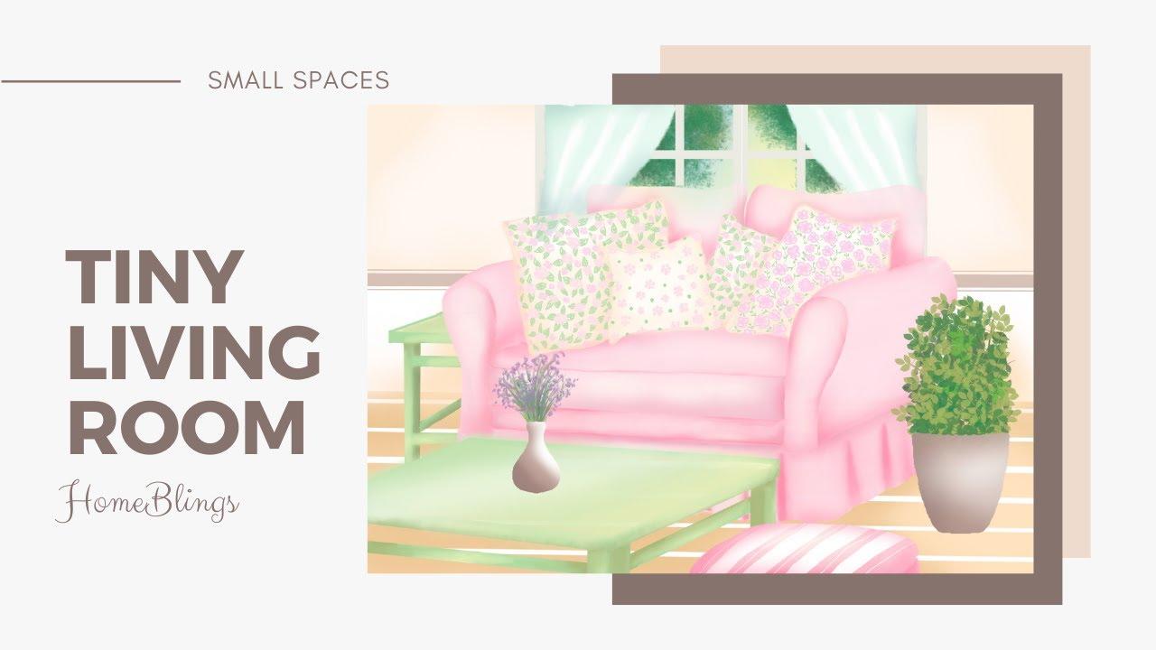 Cute Pink Tiny Living Room Design Digital Illustration Small House Interior Design Ideas Youtube