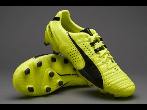 40bb60385fe Puma King II FG with Safety Yellow and Black Colors - YouTube