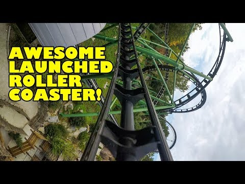 Freischütz Launched Roller Coaster Front Seat POV Bayern Park Germany