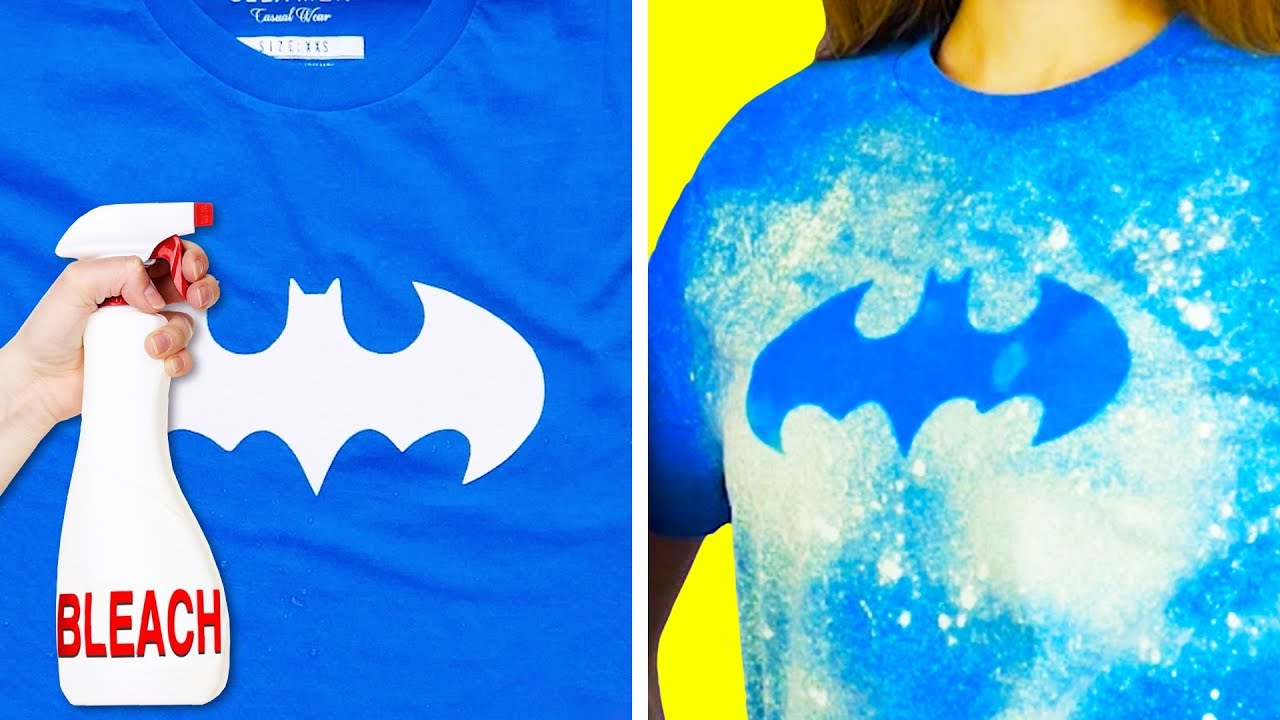 b932f5952e92 18 COOL IDEAS TO DECORATE YOUR BORING T-SHIRTS - YouTube