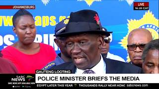 Minister Cele briefs media following visit to Jeppestown
