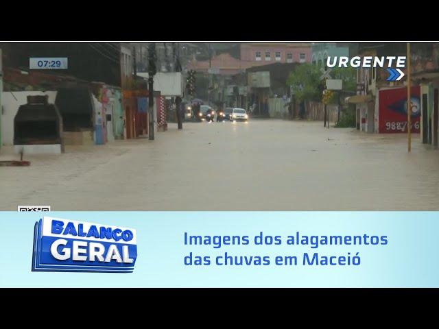 Imagens dos alagamentos das chuvas que caem em Maceió e Região Metropolitana