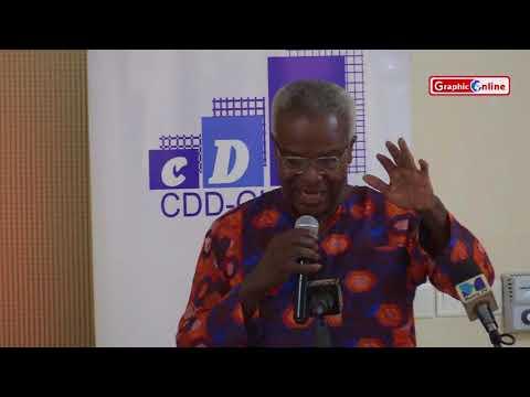 Mr. Kofi Blankson speaking on