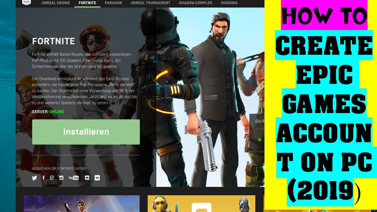 How To Create Epic Games Account | Fortnite Account in ...