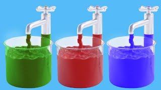 Learn Color Names with Color Liquids | Learning Colours for Children | Color Learning in Color World