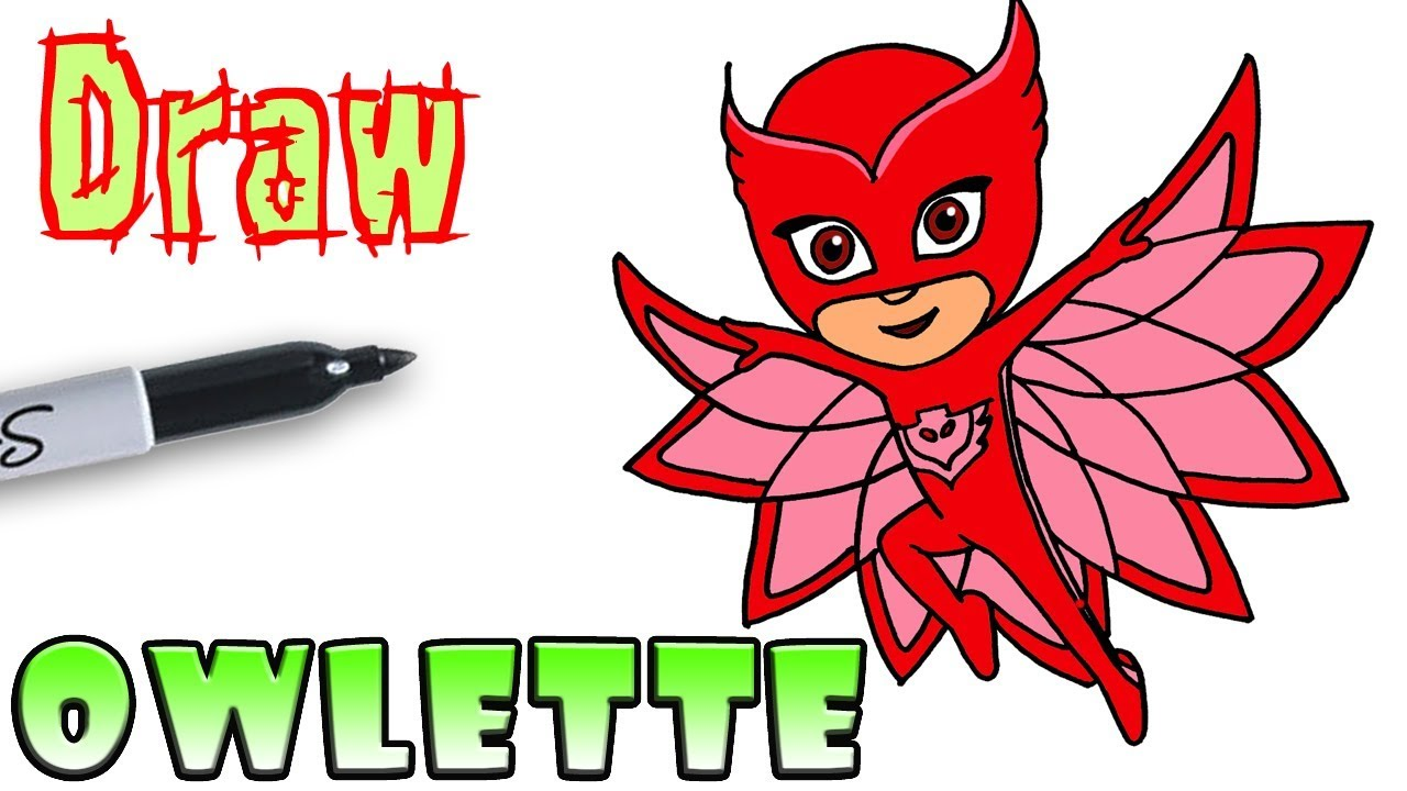 How to Draw Owlette | PJ Masks - YouTube